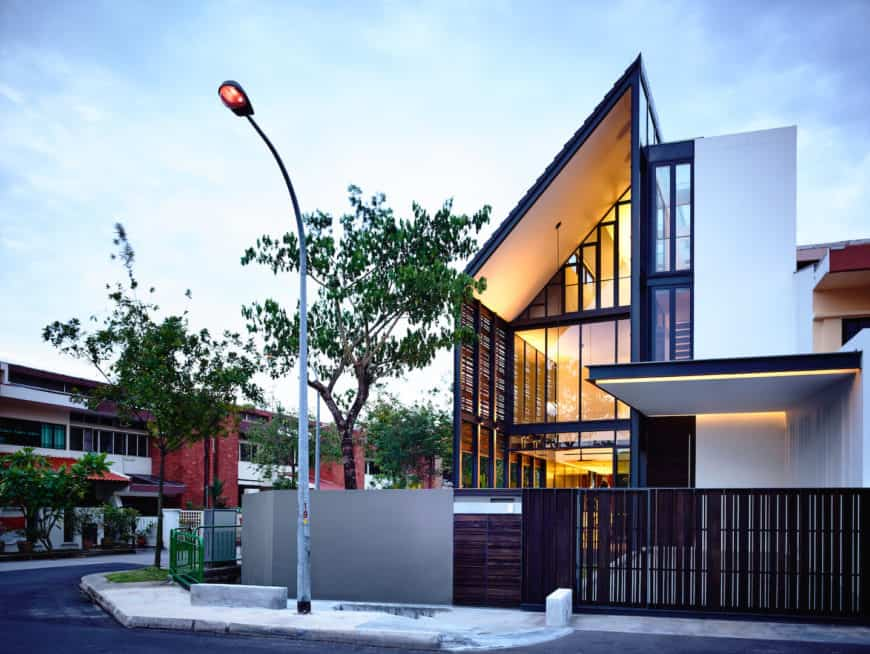 Contemporary house featuring a stylish exterior design. The home's gate looks absolutely attractive as well.