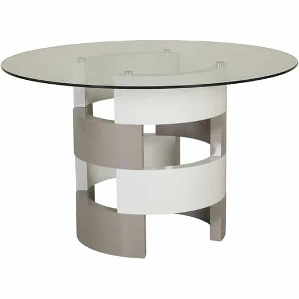 JILA GLASS TOP DINING TABLE