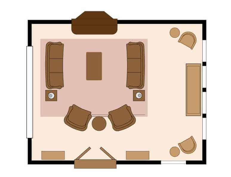 living room floor plan and furniture arrangement