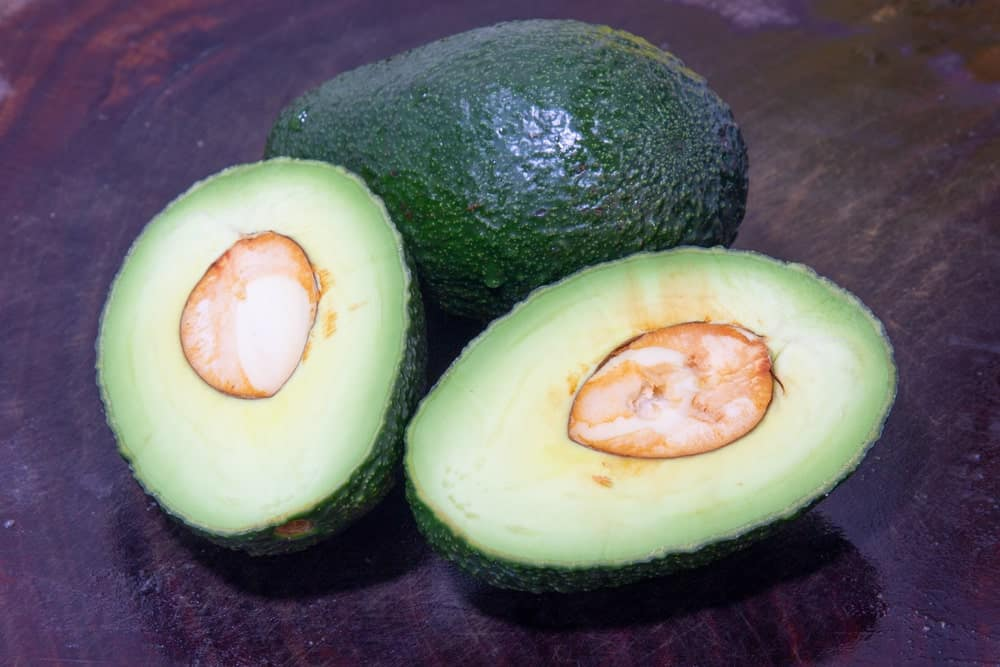 Unripen Avocados That Have Been Cut