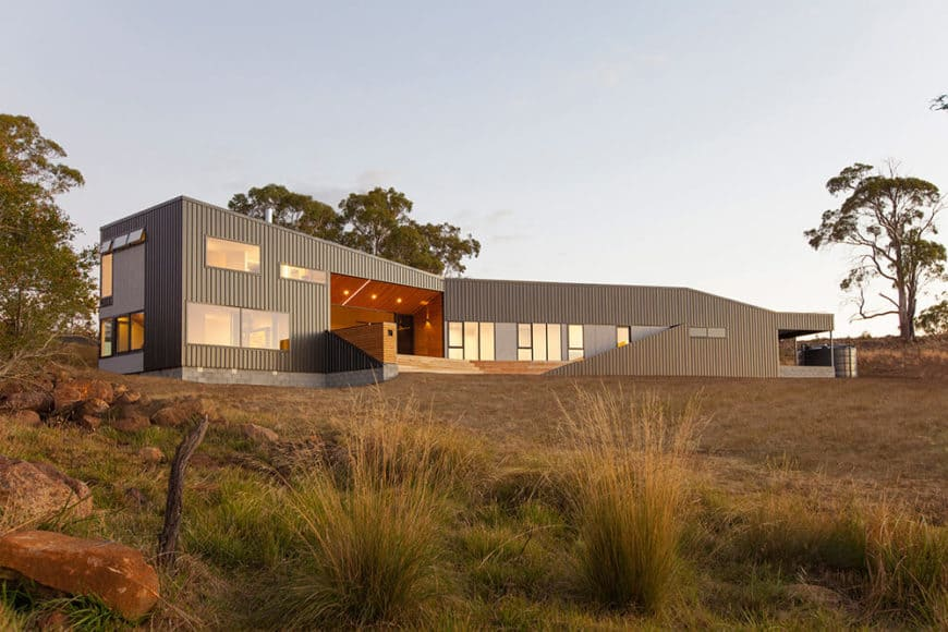 A large contemporary house with a beautiful exterior design.