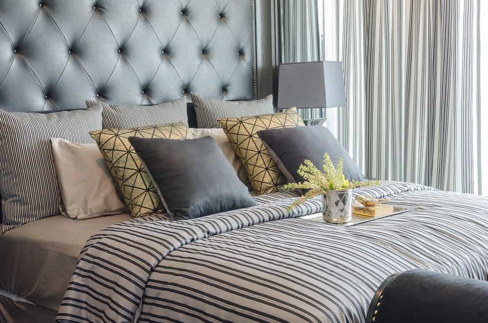 A stylish bed