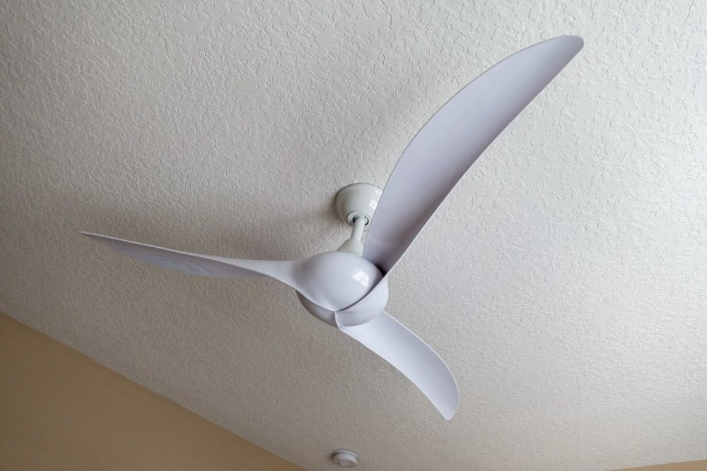 A White Energy Star Ceiling Fan