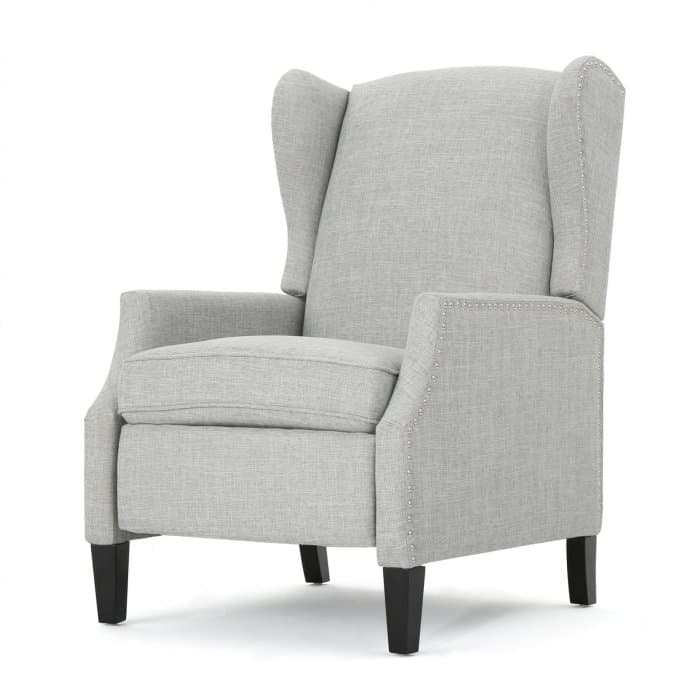Fabric wingback armchair