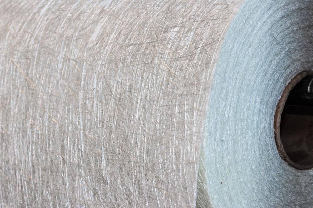 Fiberglass composite material roll