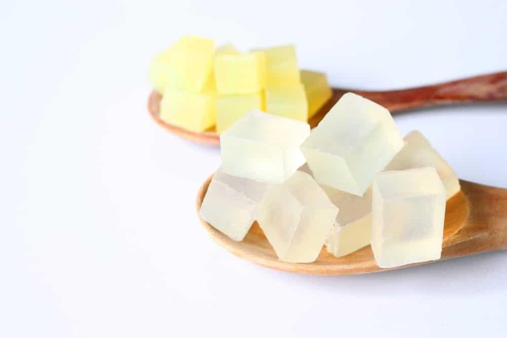 Glycerin soap cubes