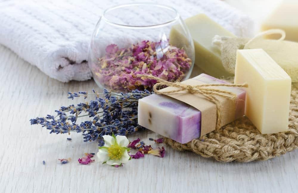 Visually pleasing handmade soaps