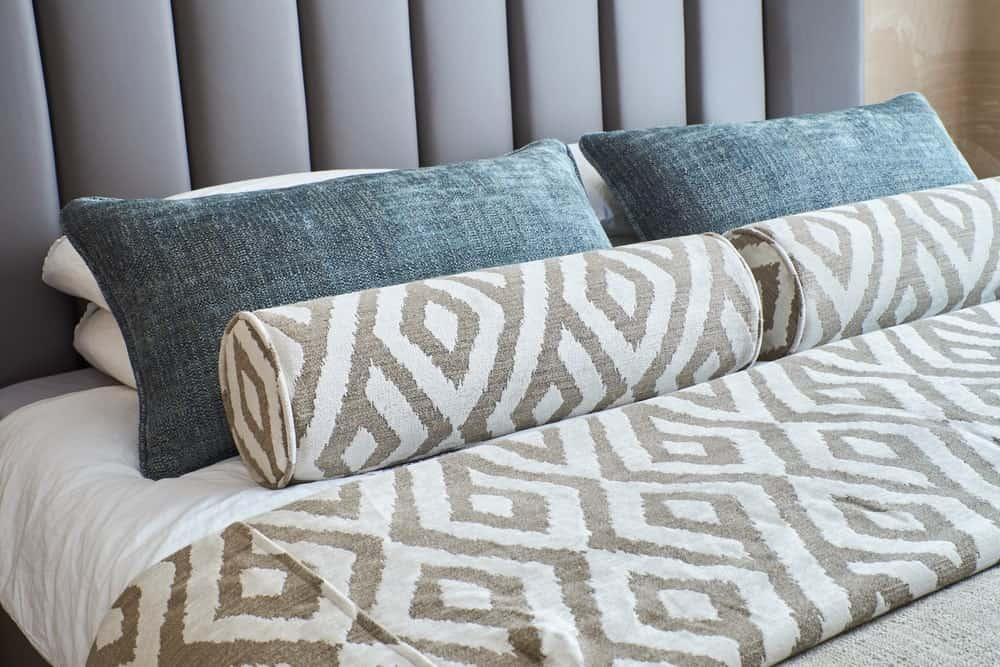 A stylish, modern bed