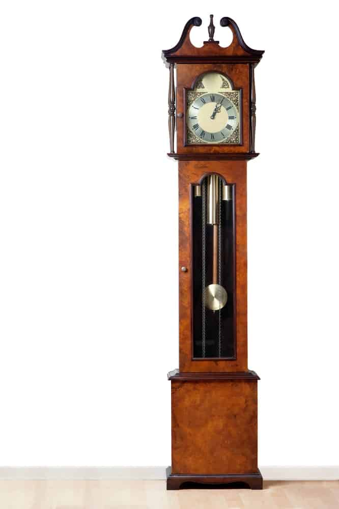 Clock with a long pendulum