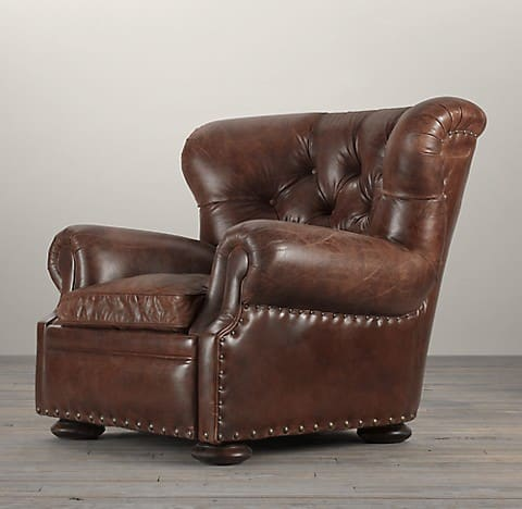 RH leather armchair recliner