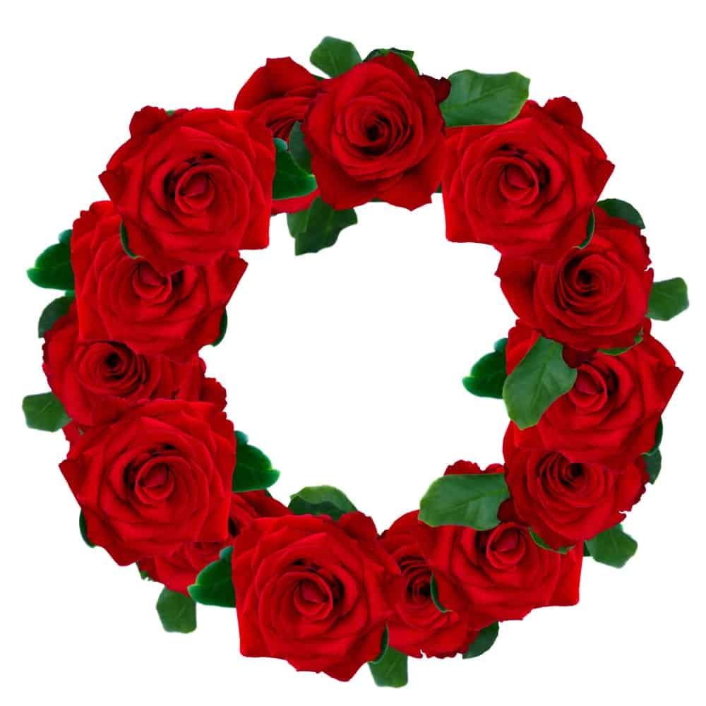 A Wreath of Red Roses