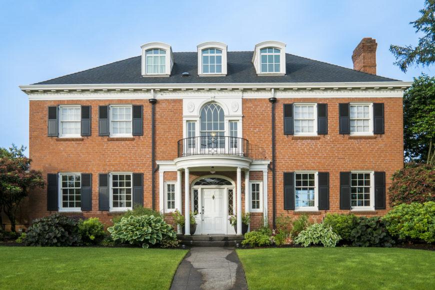 Red brick exterior house