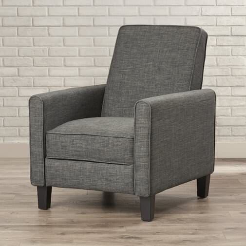 Manual fabric traditional armchair recliner