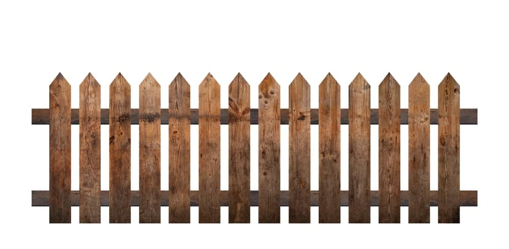 Brown-Colored Picket Fence