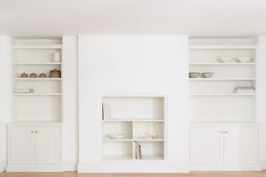 Modern minimalist fitted cupboards.