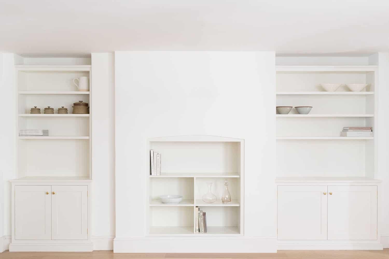 Modern minimalist fitted cupboards.