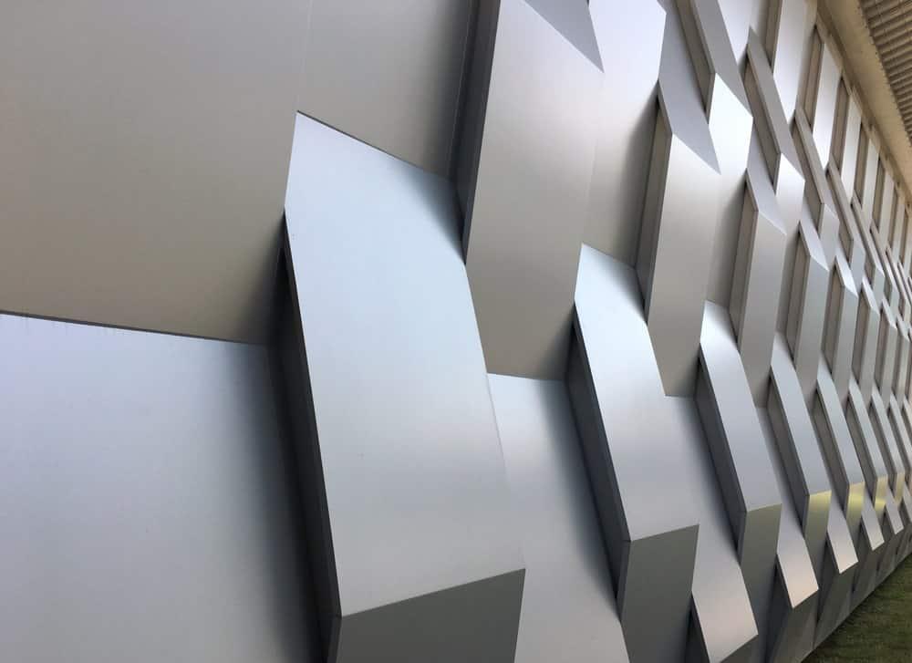 Decorative fiberglass wall.