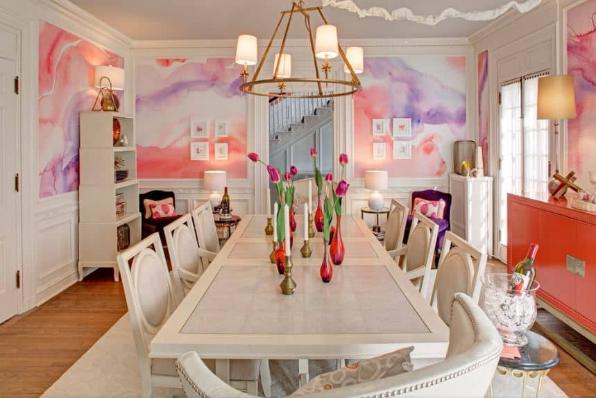 30 Pink Dining Room Ideas Photos