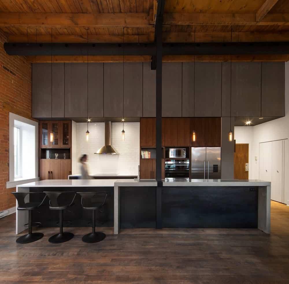 Kitchen interior of Loft Duvernay by Atelier BOOM-TOWN