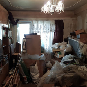 Example of hoarding in an apartment - unbelievable!