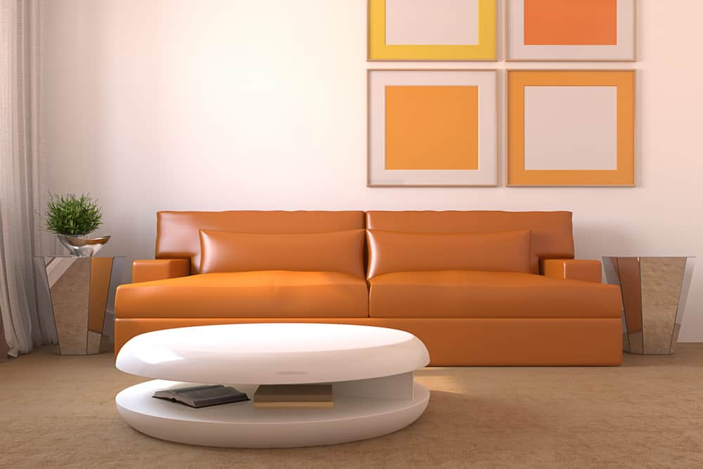 Orange concept living room decor