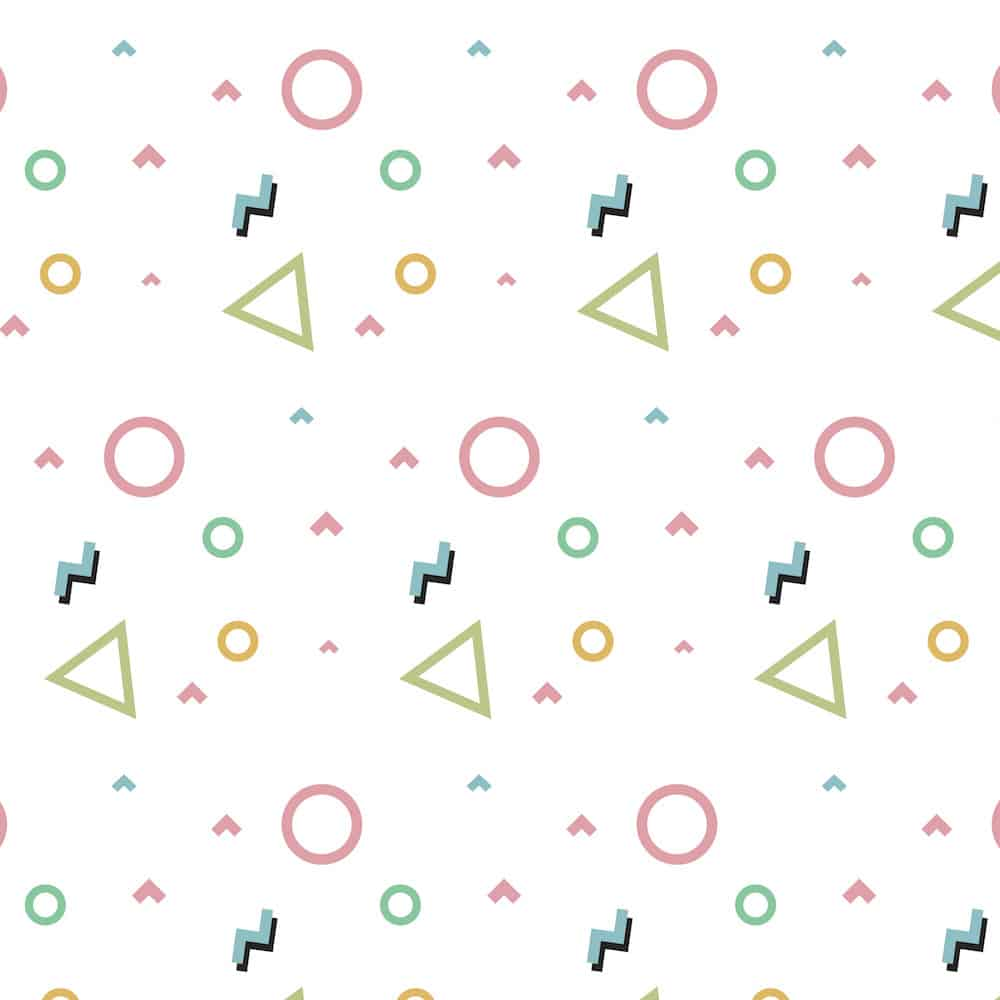 Geometric shapes for wallpaper concept