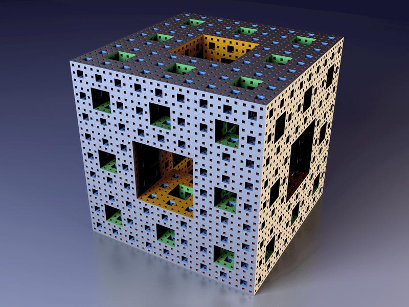 Example of fractal digital art