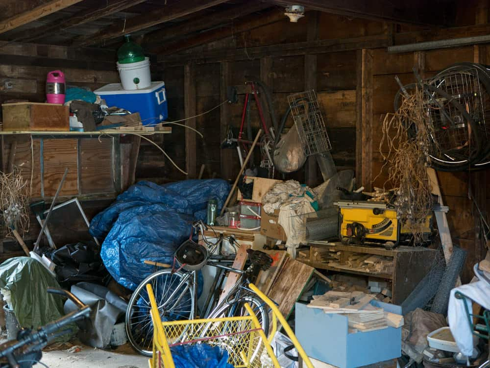 Junk-filled garage