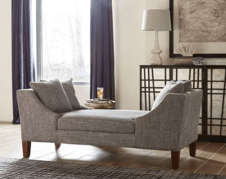 Double back chaise lounge