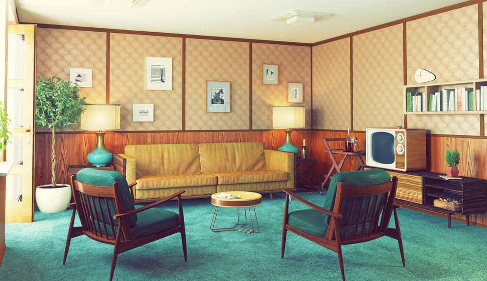 1970s interior home decor living room