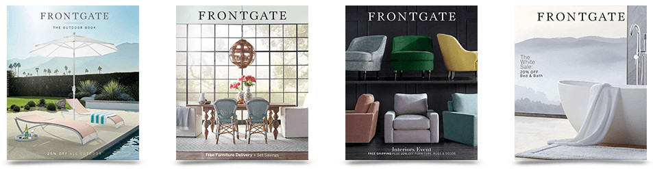 Frontgage furniture catalog covers