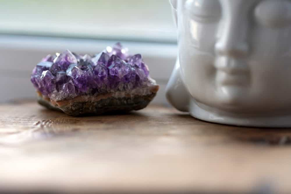 Purple Amethyst and Buddha head