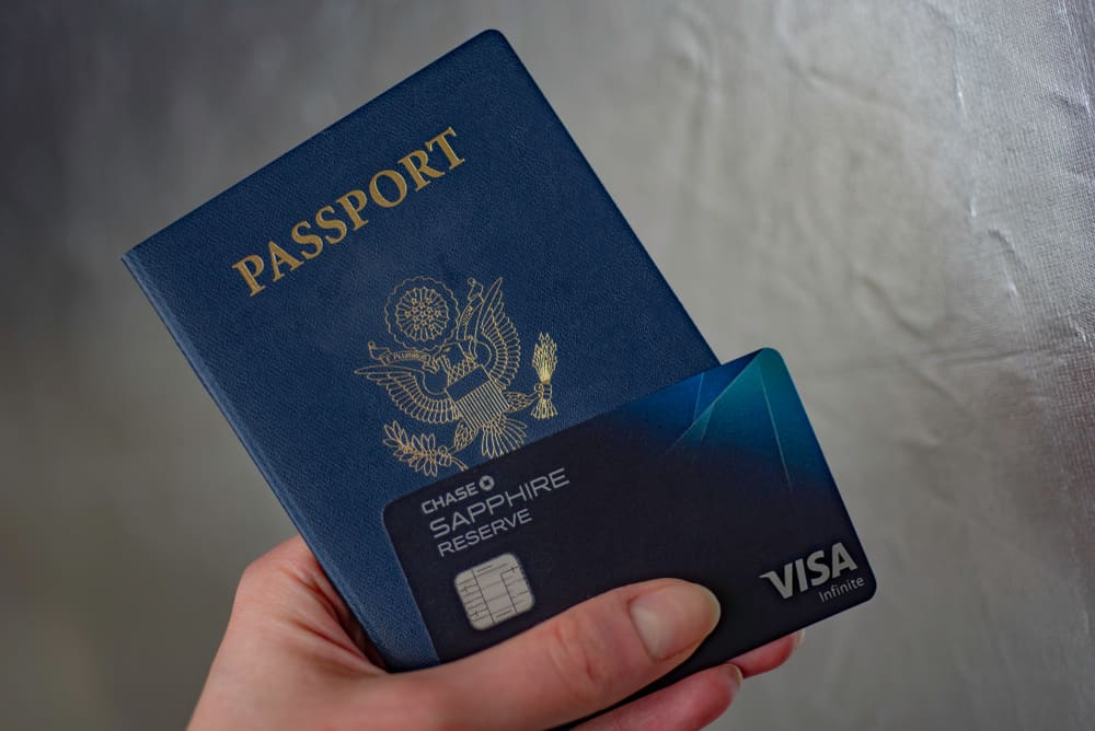 Chase Sapphire credit card with passport
