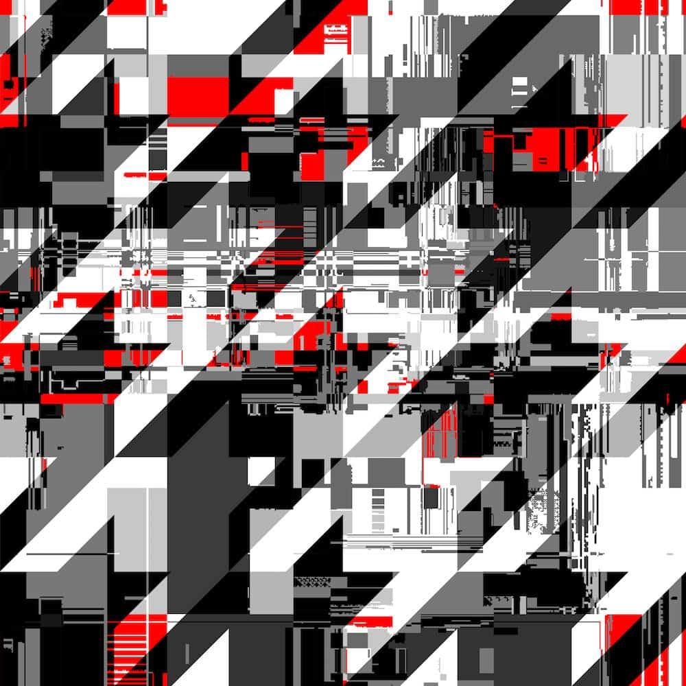 Example of datamoshing digital art