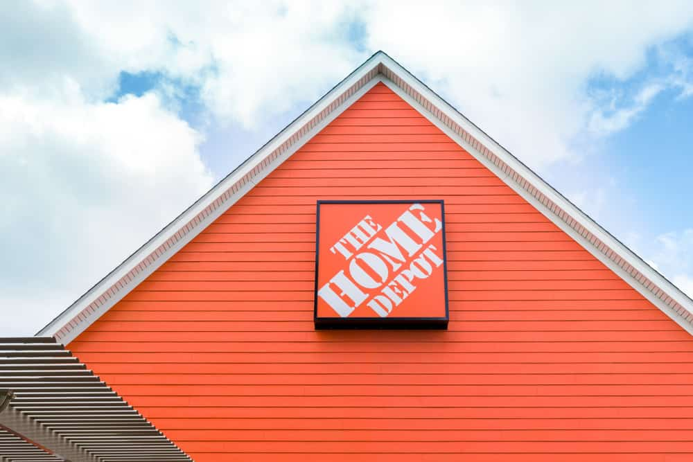 Home Depot Sign on Store