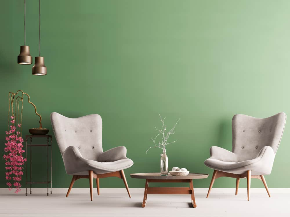 Modern sleek modern wingback chairs