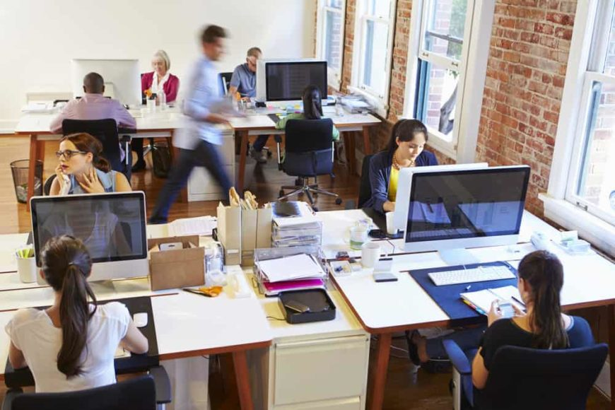 Photo of a busy office