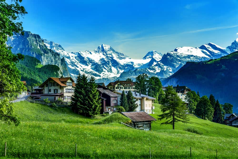 Photo of the Swiss Alps taken with digital camera