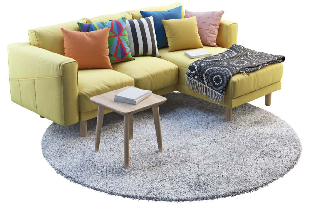 Example of a comfortable chaise sectional sofa