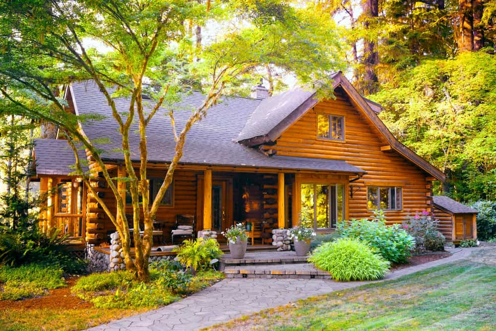 40 Rustic House Landscaping Ideas Photos