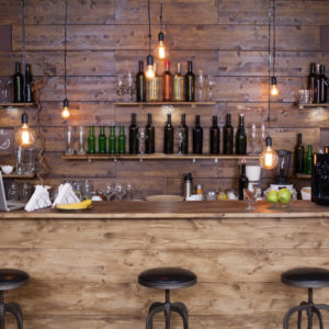 Cool rustic industrial style home bar