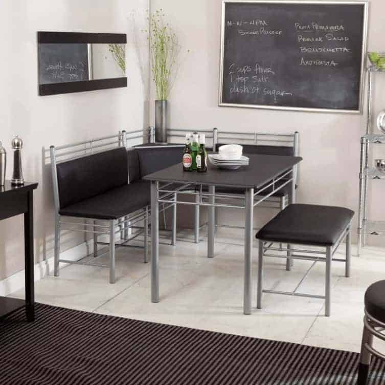 Modern style breakfast nook dining set