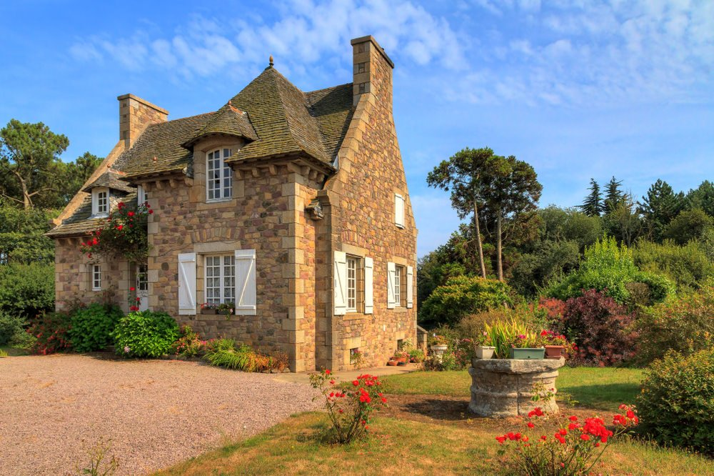 traditional French country house in Brittany, France