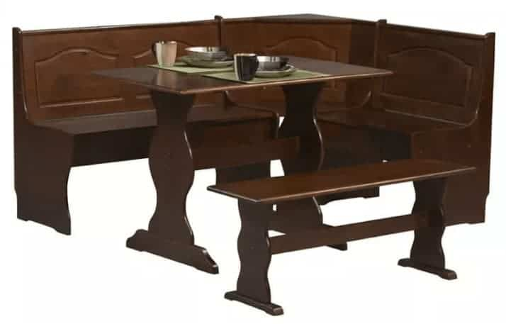 Walnut all wood breakfast dining nook