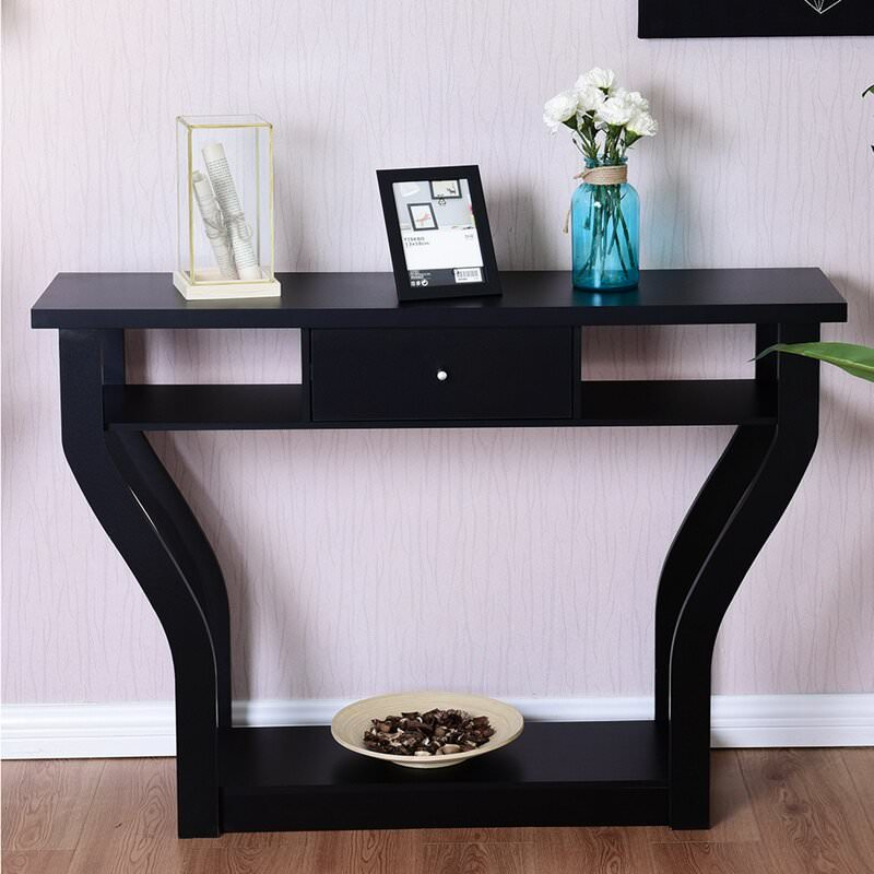 Foyer table as nightstand table