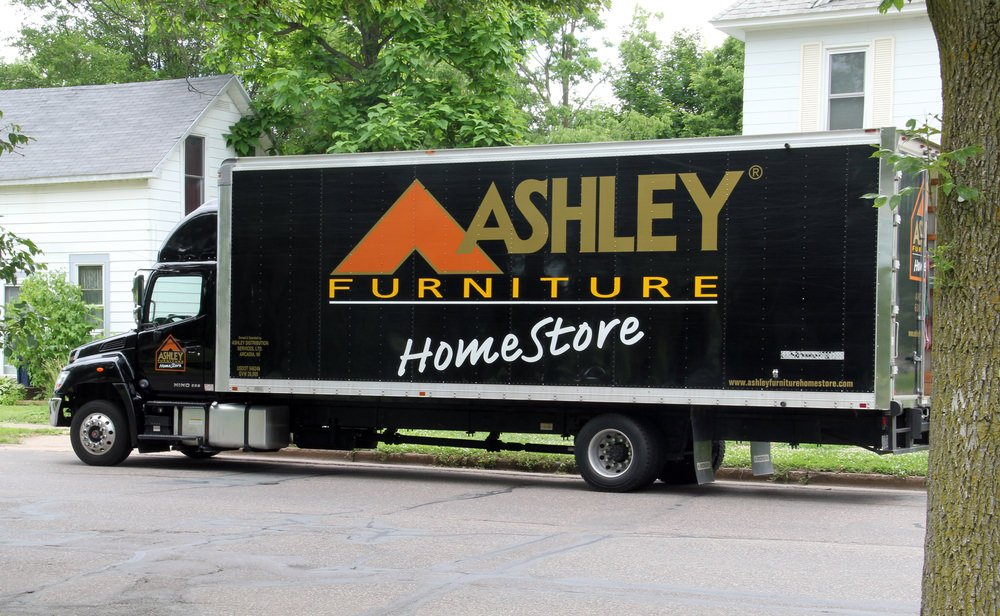 Ashley furniture delivery truck