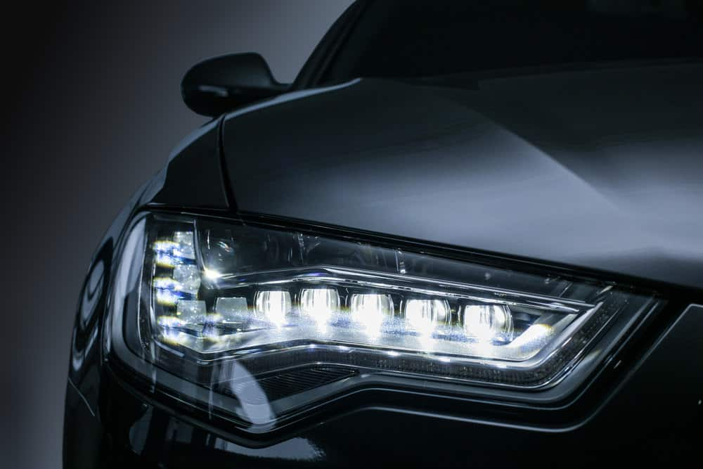 Car headlamp with LED lights