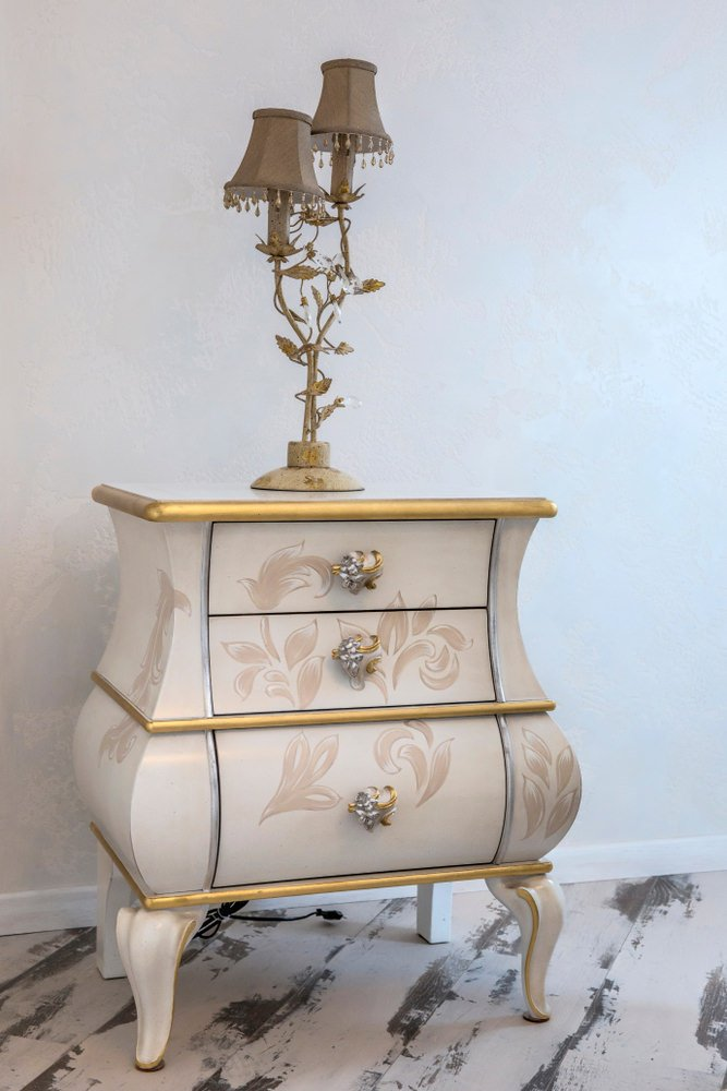 Bombe chest as nightstand