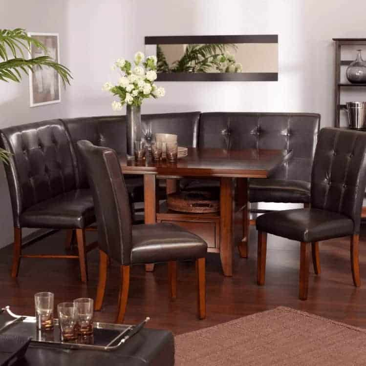 Stunning Revella Corner Six Piece Dining Nook Bench Set