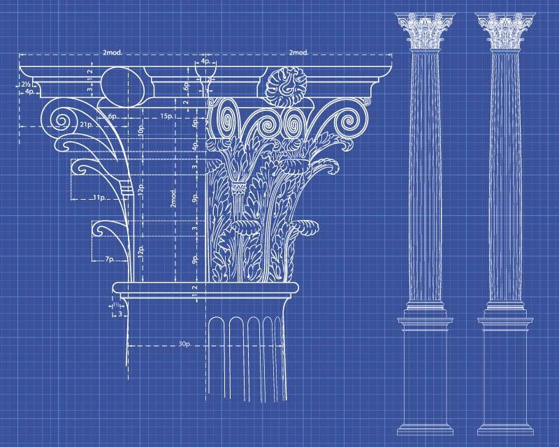 Corinthian Greek Column